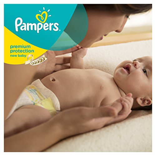 Pampers Windeln New Baby Gr. 1 Newborn 2-5 kg Tragepack, 4er Pack (4 x 23 Stück) - 6