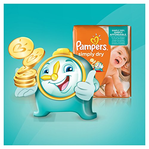 Pampers Windeln Simply Dry Gr. 4 Maxi 7-18 kg Jumbo Pack, 2er Pack (2 x 74 Stück) - 4