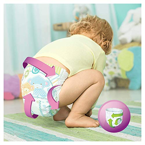 Pampers Windeln Active Fit Gr. 4 Maxi 7-18 kg Monatsbox, 1er Pack (1 x 168 Stück) - 8