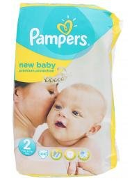 Pampers New Baby Windeln Gr.2 Mini 3-6 kg Sparpaket (1 Packung a 44 Stück)