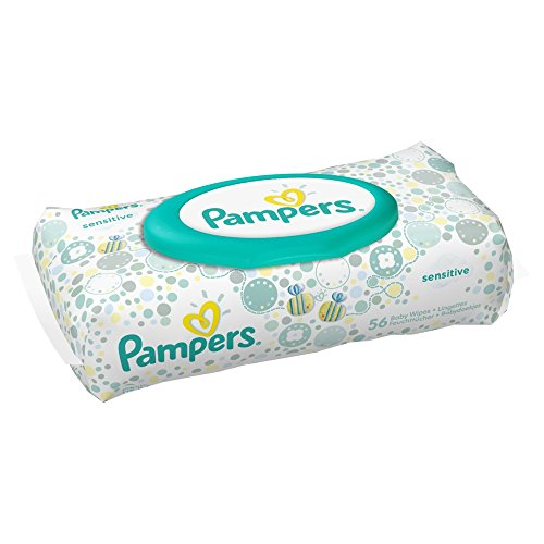 Pampers Feuchte Tücher Sensitive, Limited Edition Ballons, 12er Pack (12 x 56 Stück) - 1