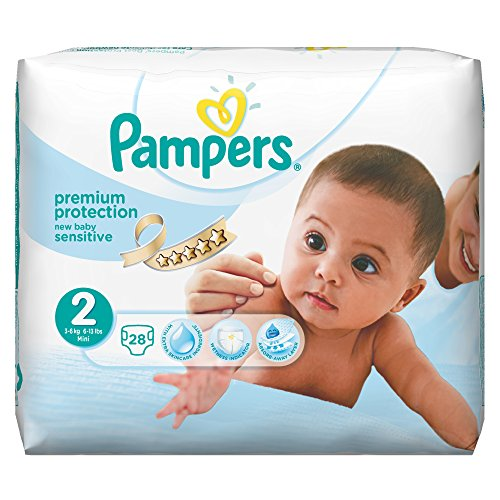 Pampers New Baby Sensitive Gr. 2 Mini 3-6 kg Tragepack, 4er Pack (4 x 28 Stück) - 1