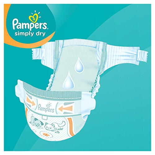 Pampers Simply Dry Gr.4 Maxi 7-18kg Jumbo Box, 2er Pack (2 x 74 Windeln) - 2