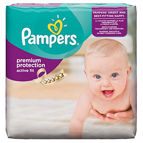 Pampers Windeln Active Fit Gr. 3 Midi 4-9 kg Monatsbox, 1er Pack (1 x 204 Stück) - 1
