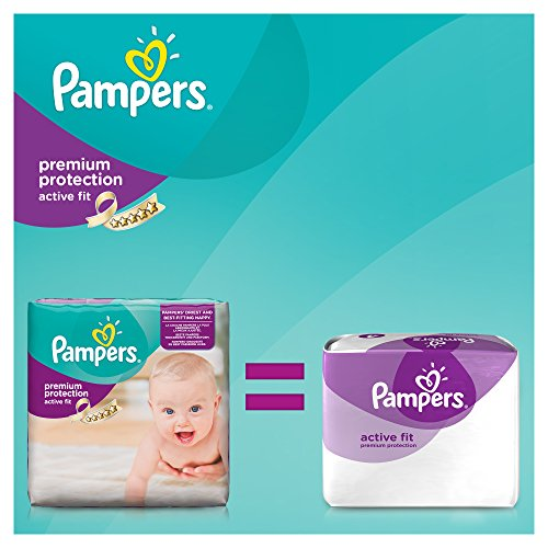 Pampers Windeln Active Fit Gr. 3 Midi 4-9 kg Monatsbox, 1er Pack (1 x 204 Stück) - 3