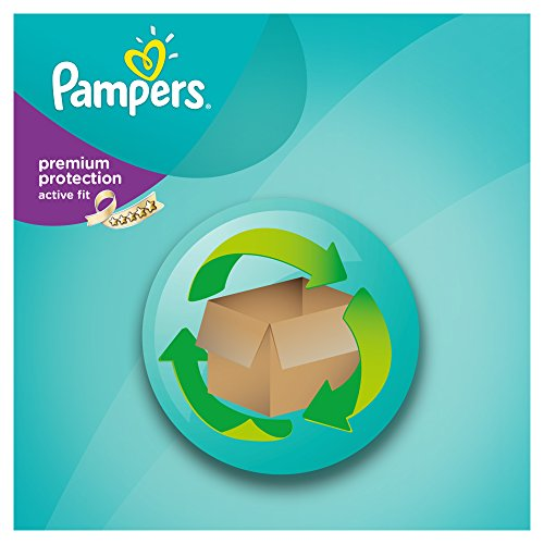 Pampers Windeln Active Fit Gr. 3 Midi 4-9 kg Monatsbox, 1er Pack (1 x 204 Stück) - 6