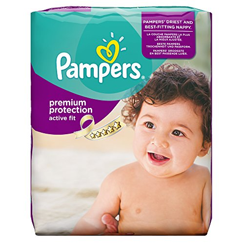 Pampers Windeln Active Fit Gr. 4 Maxi 7-18 kg Monatsbox, 1er Pack (1 x 168 Stück) - 1