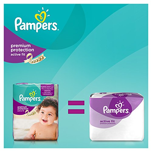 Pampers Windeln Active Fit Gr. 4 Maxi 7-18 kg Monatsbox, 1er Pack (1 x 168 Stück) - 3
