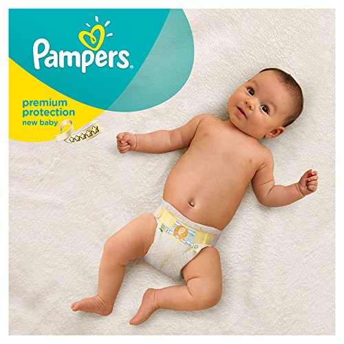 Pampers Windeln New Baby Gr. 1 Newborn 2-5 kg Tragepack, 4er Pack (4 x 23 Stück) - 2