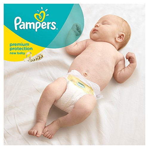 Pampers Windeln New Baby Gr. 1 Newborn 2-5 kg Tragepack, 4er Pack (4 x 23 Stück) - 3