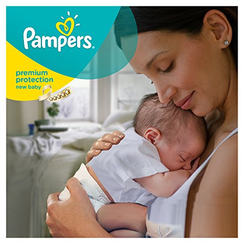 Pampers Windeln New Baby Gr. 1 Newborn 2-5 kg Tragepack, 4er Pack (4 x 23 Stück) - 4