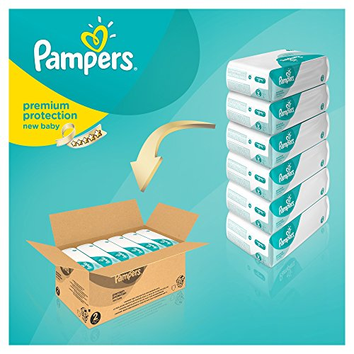 Pampers Windeln New Baby Gr. 2 Mini 3-6 kg Monatsbox, 1er Pack (1 x 240 Stück) - 3