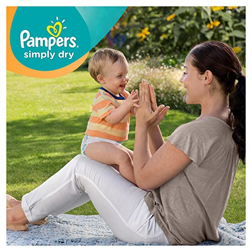 Pampers Windeln Simply Dry Gr. 4 Maxi 7-18 kg Jumbo Pack, 2er Pack (2 x 74 Stück) - 3