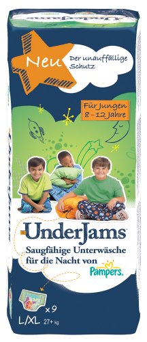 Pampers Windeln UnderJams Gr. 8 L/XL Boy 27+ kg, 4er Pack (4 x 9 Stück) - 1
