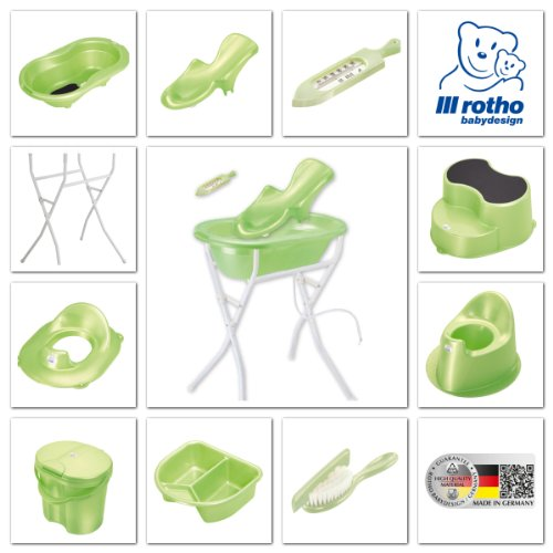 Rotho Babydesign 20002 0139 - Top Windeleimer, lindgrün perl - 2