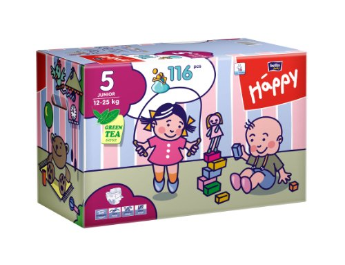 Bella Baby Happy Windeln Gr. 5  Junior 12-25kg Big Pack, 116 Stück - 1